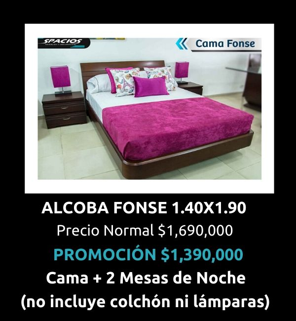 Oferta Muebles Alcoba Fonse
